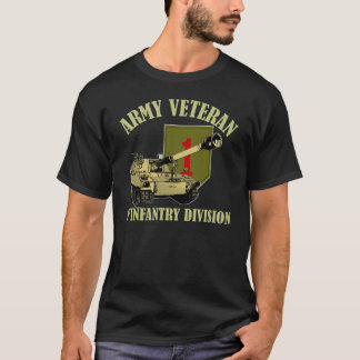 1st ID Veteran - M109 Howitzer T-Shirt