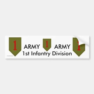 1st Inf Div bs/1 Car Bumper Sticker