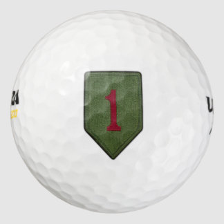 1st infantry big red 1 one veterans vets patch pack of golf balls
