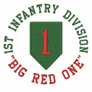 """1st Infantry """"Big Red One"""" Embroidered Shirt"""