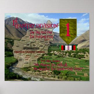 1st Infantry Div. OEF Poster