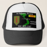 """1st Infantry Division&quot;Big Red One&quot; Ball Caps<br><div class=""""desc"""">Designed By A Vietnam Veteran --Designs feature: Vietnam Veterans who where in the Army, Marines, Armor, their Divisions, Battalions, Brigades .High Quality printing, a must for the Vietnam Veteran .Been there done that show it. Please check out the rest of our store for many girft items. Try our T-Shirts--Mousepads--Coffee Mugs...</div>"""