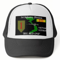 """1st Infantry Division""""Big Red One"""" Ball Caps"""