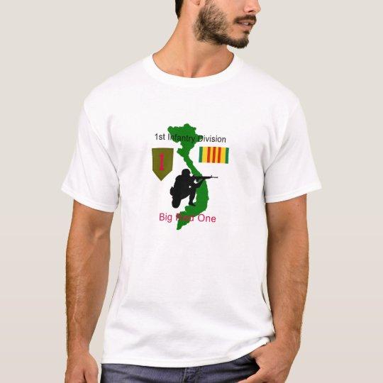 af37c03b 1st Infantry Division Big Red One Vietnam Vet T-Sh T-Shirt   Zazzle.com