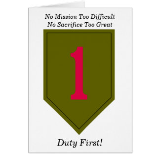 1st Infantry Division card