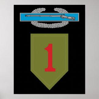 1st Infantry Division CIB Poster