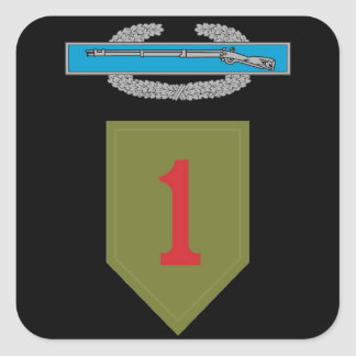 1st Infantry Division CIB Sticker