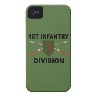 1st Infantry Division - Crossed Rifles - With Text Case-Mate iPhone 4 Case
