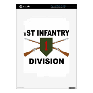 1st Infantry Division - Crossed Rifles - With Text iPad 2 Decal