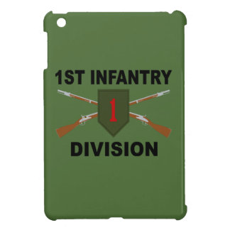 1st Infantry Division - Crossed Rifles - With Text iPad Mini Case