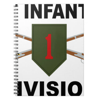 1st Infantry Division - Crossed Rifles - With Text Notebook
