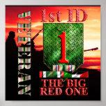 1st Infantry Division Desert Storm Veteran Poster