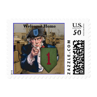 1st infantry division iraq patch postage stamps