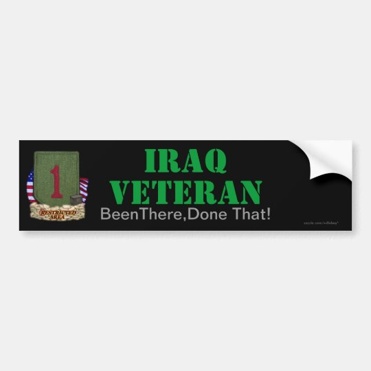 1st infantry division iraq vets bumper sticker