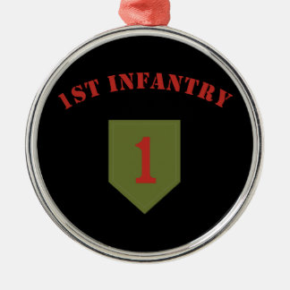 1st Infantry Division Metal Ornament