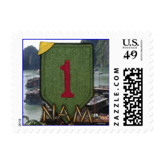 1st infantry division nam patch postage stamps