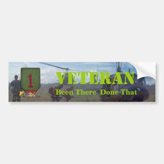 1st infantry division nam war vets bumper sticker