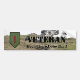1st infantry division patch bumper sticker