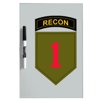 1st Infantry Division Recon Dry-Erase Board