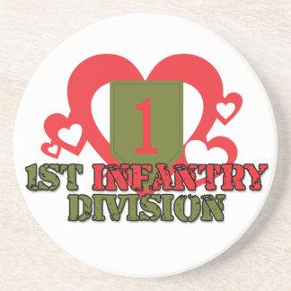 1st Infantry Division Sandstone Coaster