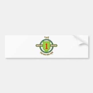 """1ST INFANTRY DIVISION """"THE BIG RED ONE"""" BUMPER STICKER"""
