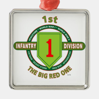 "1ST INFANTRY DIVISION ""THE BIG RED ONE"" METAL ORNAMENT"