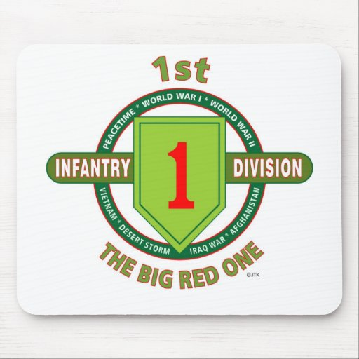 "1ST INFANTRY DIVISION ""THE BIG RED ONE"" MOUSE PAD"