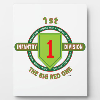 """1ST INFANTRY DIVISION """"THE BIG RED ONE"""" PLAQUE"""