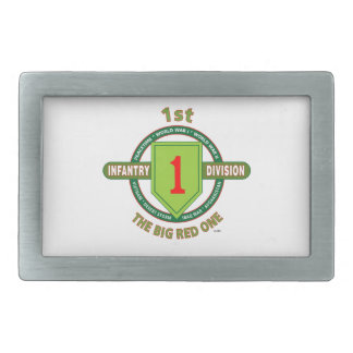 "1ST INFANTRY DIVISION ""THE BIG RED ONE"" RECTANGULAR BELT BUCKLE"