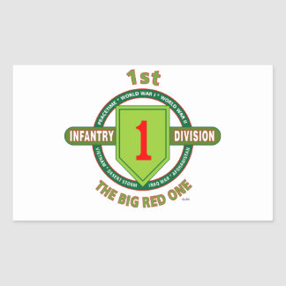 """1ST INFANTRY DIVISION """"THE BIG RED ONE"""" RECTANGULAR STICKER"""