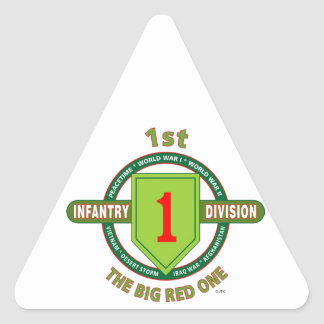 """1ST INFANTRY DIVISION """"THE BIG RED ONE"""" TRIANGLE STICKER"""