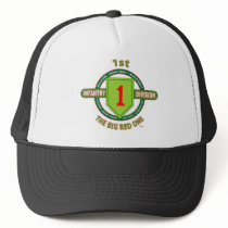 """1ST INFANTRY DIVISION """"THE BIG RED ONE"""" TRUCKER HAT"""
