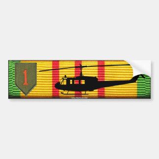 1st Infantry Division UH-1 Huey VSM Bumper Sticker Car Bumper Sticker