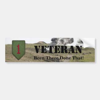 1st infantry division veterans bumper sticker