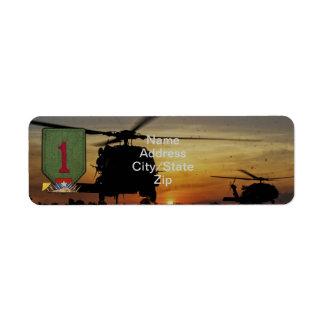 1st infantry division vietnam nam war patch label