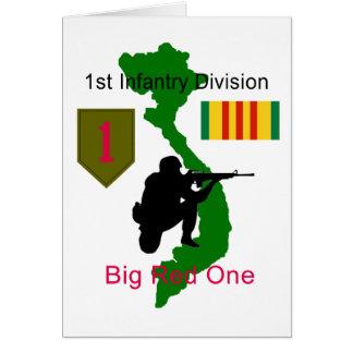 1st Infantry Division Vietnam Vet Blank Card
