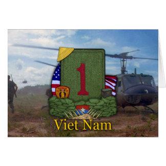 1st infantry division vietnam veterans vets Card