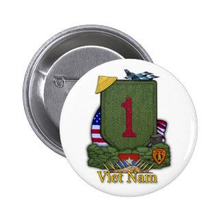 1st infantry division vietnam war vets Button