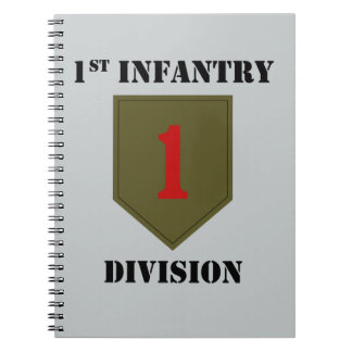 1st Infantry Division With Text Notebook