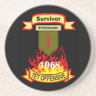 1st Infantry Survivor Vietnam Tet Offensive Coaste Drink Coaster