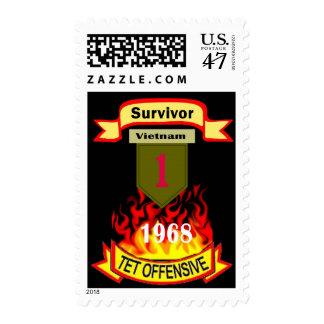 1st Infantry Vietnam Survivor Tet Offensive Stamp