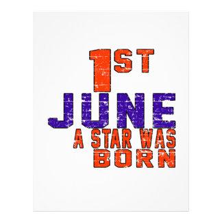 1st June a star was born Letterhead Template