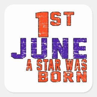 1st June a star was born Square Sticker