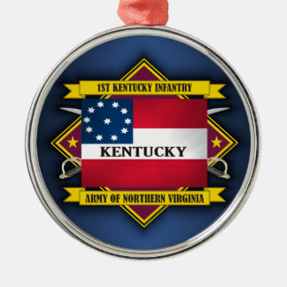1st Kentucky Infantry (F5) Metal Ornament