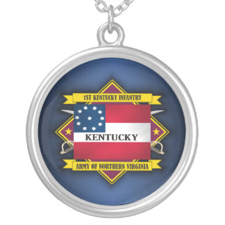 1st Kentucky Infantry (F5) Silver Plated Necklace