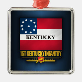 1st Kentucky Infantry Metal Ornament