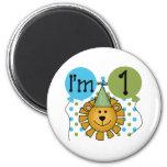 1st Lion Birthday 2 Inch Round Magnet