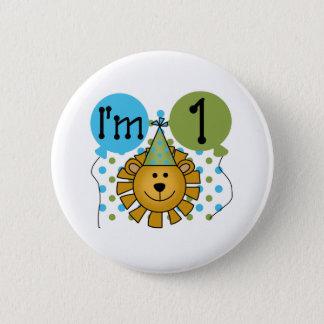 1st Lion Birthday Button