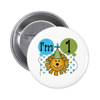 1st Lion Birthday Button