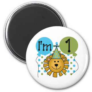 1st Lion Birthday Magnet